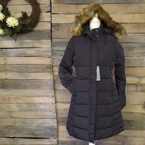 Long Heavyweight Parka Jacket Neva Faux Fur Hood S